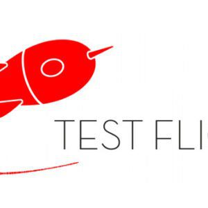 Test Flight logo aktiv lyttesession i flight club stil for musikrproducere